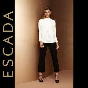 Escada Wool Silk Blend Black Dress Pants Sz 36